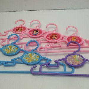 7 Disney Girls Plastic Clothes Hangers